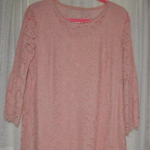 Floral Lace 3/4 Bell Sleeve Tunic